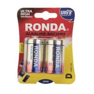 Ronda Ultra Plus Alkaline D Battery Pack Of 2